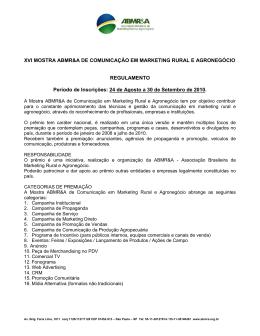Regulamento. - Associação Brasileira de Marketing Rural