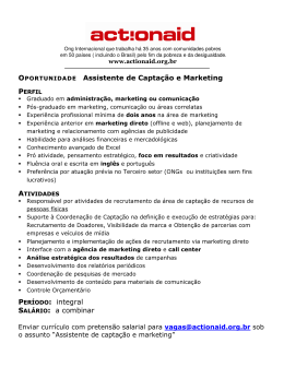 Assistente de Captação e Marketing :: integral :: a