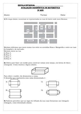 Avaliação Diagnóstica de Matemática do 9º ano