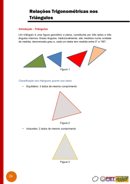 Relações Trigonométricas nos Triângulos