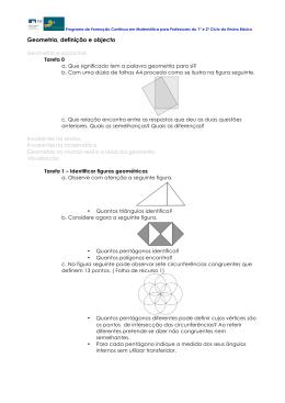 Geometria, definição e objecto