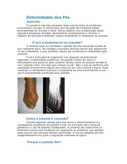 Deformidades dos Pés - Centro de Especialidades Ortopédicas