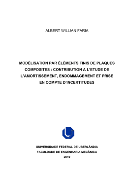 albert willian faria modélisation par éléments finis de