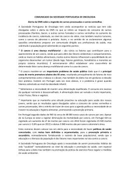 Comunicado_SPO_OMS - Sociedade Portuguesa Oncologia