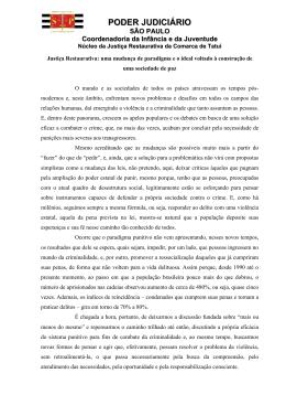Justiça Restaurativa - Tribunal de Justiça
