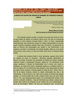 BODAS DE SANGRE - Revista Hispanista