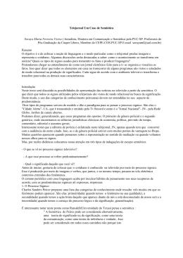 Telejornal Um Caso de Semiótica Soraya Maria Ferreira