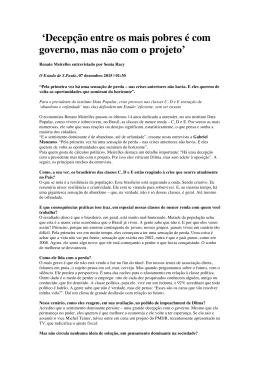 """15.12-Renato Meirelles-ÔDecepc ̧ão entre os mais pobres"""""""