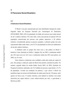 3 O Panorama Social Brasileiro - Maxwell - PUC-Rio
