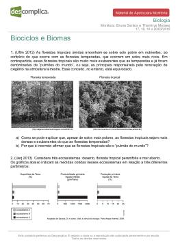 Biociclos e Biomas