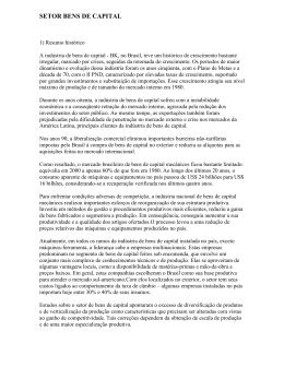 setor bens de capital - RENAI - Rede Nacional de Informações