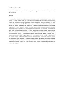 Maria Francisca Roncero Siles Efeitos do pisoteio