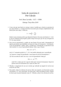 Lista de exercícios 4 Pré-Cálculo