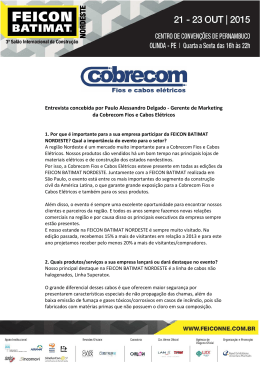 Gerente de Marketing da Cobrecom Fios e Cabos