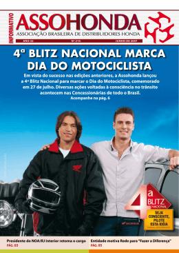 4ª BLITZ NACIONAL MARCA DIA DO MOTOCICLISTA