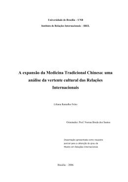 A expansão da Medicina Tradicional Chinesa: uma análise da