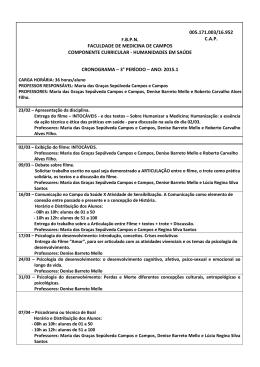 cronograma humanidades em saúde