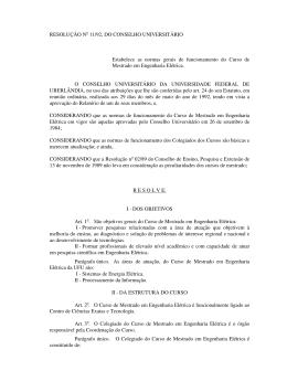1992 - Resolução nº 11 - Universidade Federal de Uberlândia