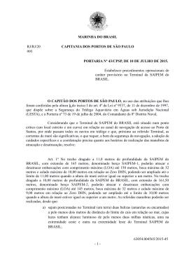 MARINHA DO BRASIL RJ/RJ/20 CAPITANIA DOS PORTOS DE