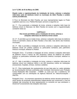 Lei nº 2.395, de 03 de Março de 2006 Dispõe sobre a