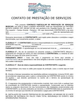CONTATO DE PRESTAÇÃO DE SERVIÇOS