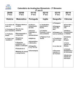 Calendário de Avaliações Bimestrais-1