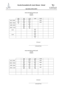Matemática – Português – MACS_12ºano