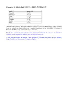 Concurso de Admissão à EsPCEx – 2015