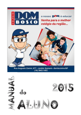 Manual do Aluno - Colegio Dom Bosco