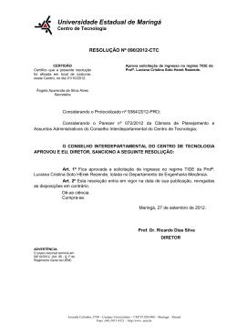 Resolução 090/2012-CTC - Centro de Tecnologia