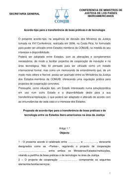SECRETARÍA GENERAL CONFERENCIA DE MINISTROS