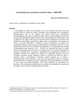 Sazonalidade dos nascimentos no Brasil: Sinasc - 2000