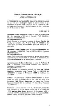 Gabarito de 20.07.2015 - Fundação Municipal de Educação de Niterói