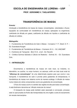 Transferência de Massa VII