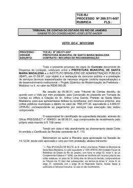 TRIBUNAL DE CONTAS DO ESTADO DO RIO DE JANEIRO