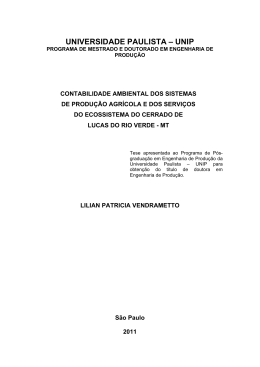 UNIVERSIDADE PAULISTA – UNIP - Advances In Cleaner Production