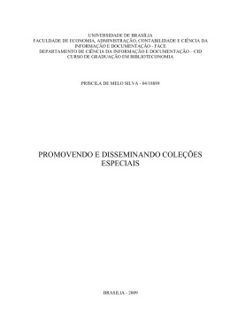 Priscila de Melo Silva-Promovendo e disseminando coleções