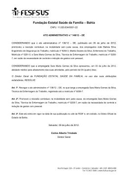Ato Administrativo 148 - Retifica rescisão Sara