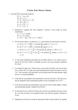 4ª Lista- Prof. Marcos Vinicius