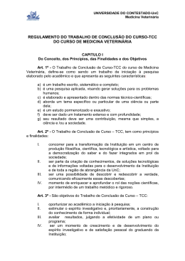 Regulamento TCC Medicina Veterinaria_2006