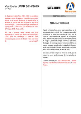 Vestibular UFPR 2014/2015