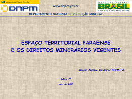 Espaço Territorial Paraense e os Títulos Minerais