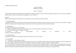 ESTADO DO ESPIRITO SANTO PODER JUDICIÁRIO TRIBUNAL