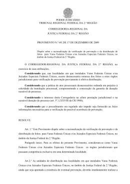 PODER JUDICIÁRIO TRIBUNAL REGIONAL FEDERAL DA 2.ª