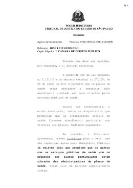 PODER JUDICIÁRIO TRIBUNAL DE JUSTIÇA DO ESTADO