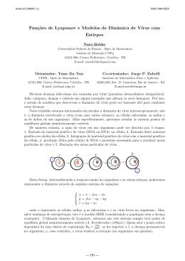 2009BiomatemáticaP-G638Funções de Lyapunov e Modelos de