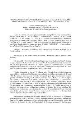 """MARIA"", VERBETE DE AFONSO MURAD (Faculdade Jesuíta de"