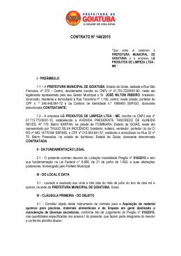 Contrato 146-2015 - LG PRODUTOS DE LIMPEZA LTDA