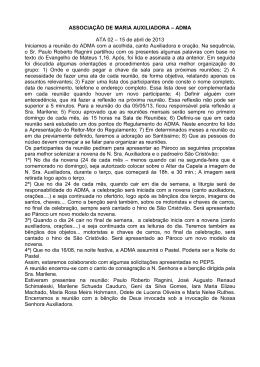 ASSOCIAÇÃO DE MARIA AUXILIADORA – ADMA ATA 02 – 15 de