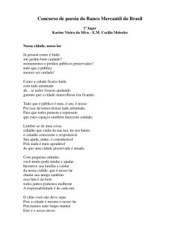 Concurso de poesia do Banco Mercantil do Brasil